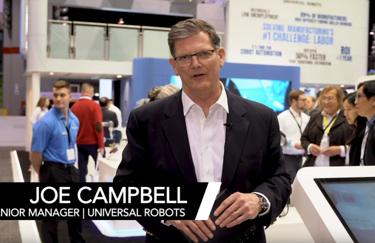 Universal Robots' Joe Campbell Presents at The Assembly Show