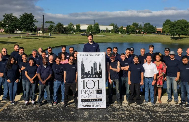 Fusion OEM Awarded Chicago's 101 Best and Brightest Places to Work